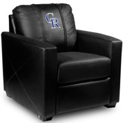 Colorado Rockies MLB Silver Chair with Secondary Logo Panel