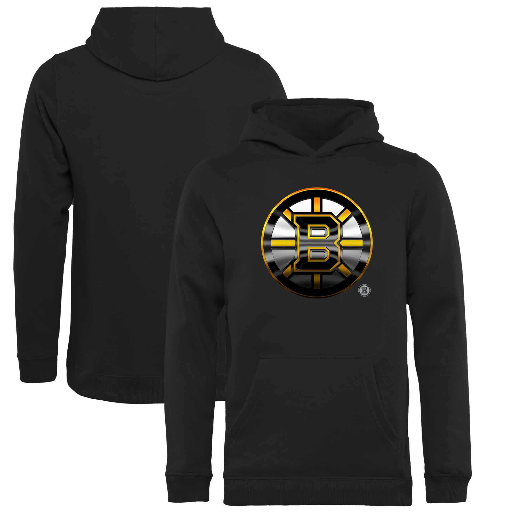 Boston Bruins Fanatics Branded Youth Midnight Mascot Pullover Hoodie - Black