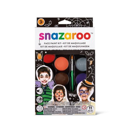 Face Paint Palette Kit - Halloween, Suitable For Sensitive Skin - Snazaroo face paints are specially formulated to be friendly to the most delicate skin and are.., By Snazaroo - Snazaroo Halloween Kit