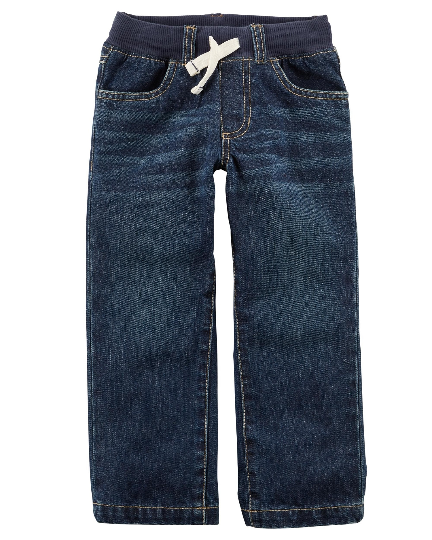 Carter's Baby Boys' Pull-On Jeans, Navy, 3 Months