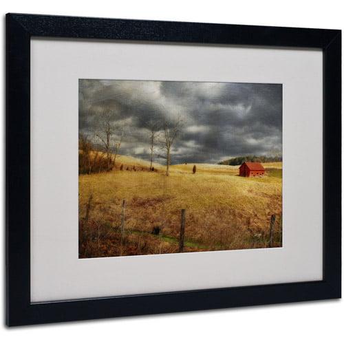 "Trademark Fine Art ""Winter Begins"" by Lois Bryan, Black Frame"