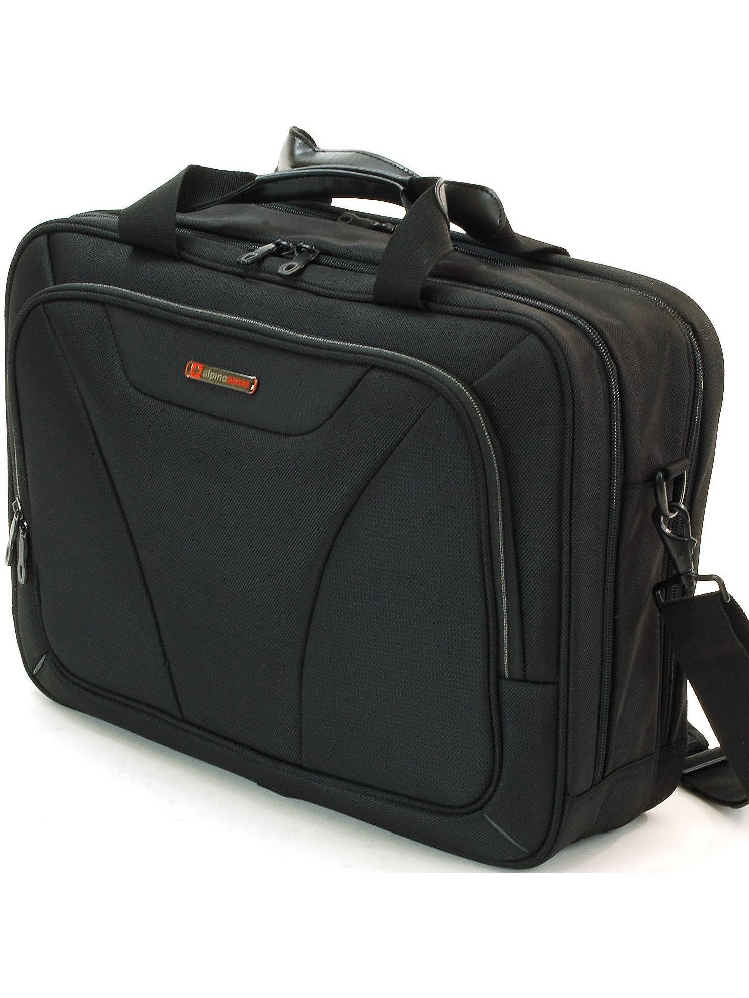Alpine Swiss Laptop Briefcase Computer Bag Business Case Portfolio Tablet Sleeve Black One Size by Alpine Swiss