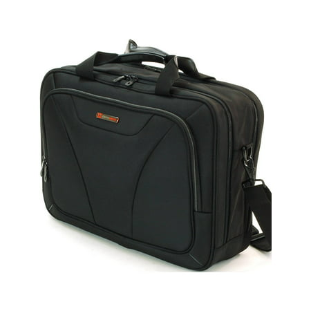 Alpine Swiss Laptop Briefcase Computer Bag Business Case Portfolio Tablet Sleeve Black One (Top Flap Portfolio Briefcase)
