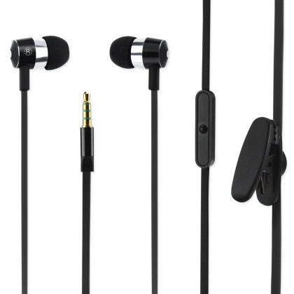 Heart-Thumping Golden Bass Earphone 3.5Mm With Black