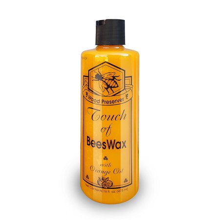 Touch of Beeswax Wood Furniture Polish and Conditioner with Orange Oil. Feeds, Waxes and Preserves Wood Beautifully. 16 oz Pint ()