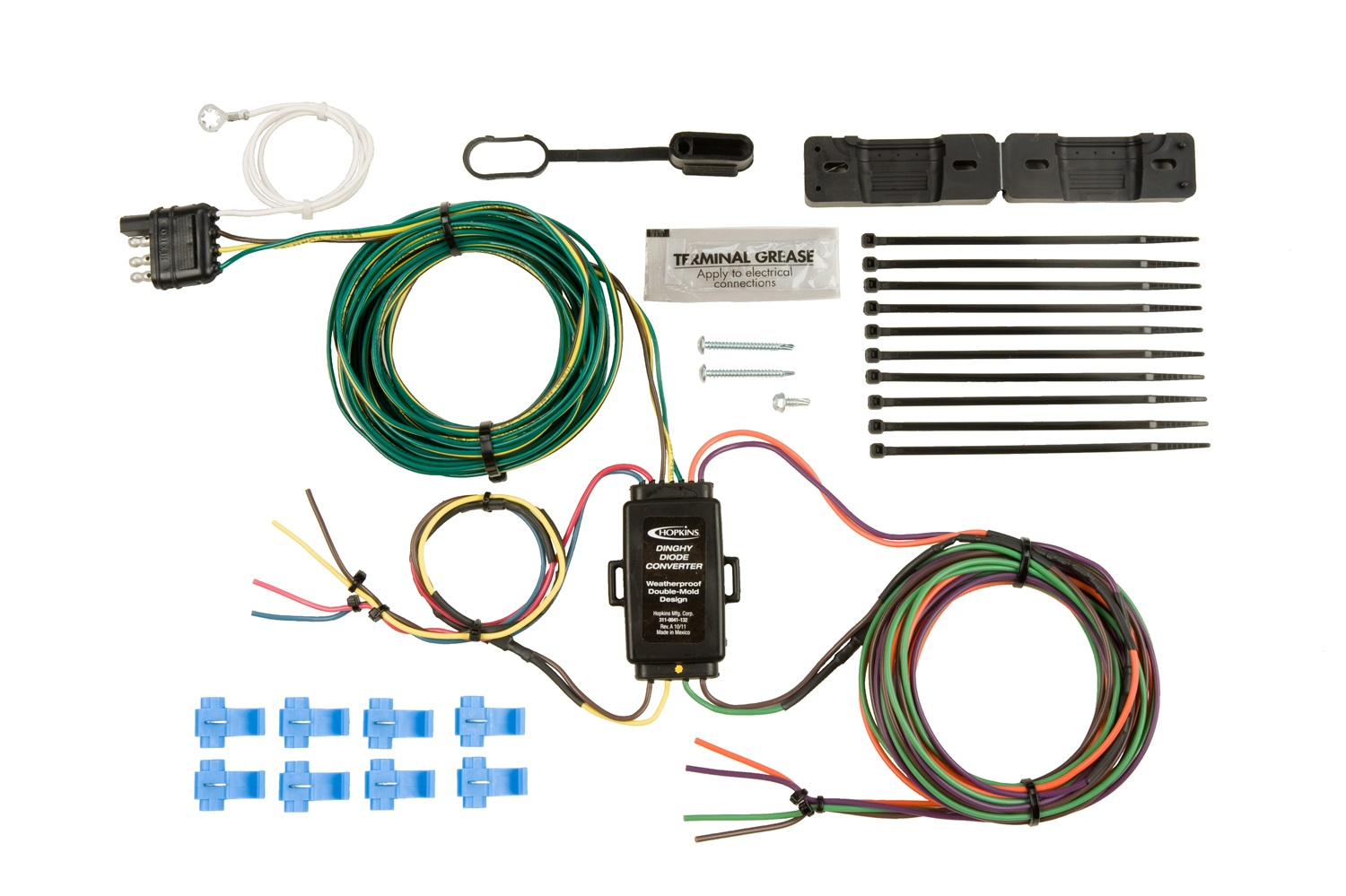 hopkins towing solution 55999 plug in simpler vehicle to trailer rh walmart com Trailer Wiring Kit 7-Way Trailer Plug Wiring Diagram