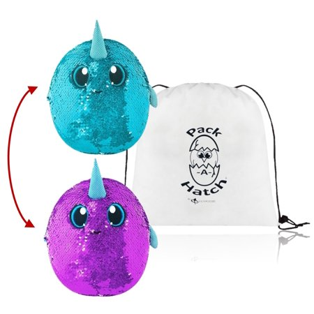 Arlo Narwhal Shimmeez Sequin Plush with Exclusive Pack A Hatch