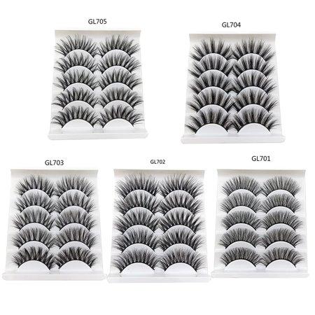 3D False Eyelashes 5 Pairs Of Natural Soft Three-Dimensional Thick Eyelashes - image 4 of 6
