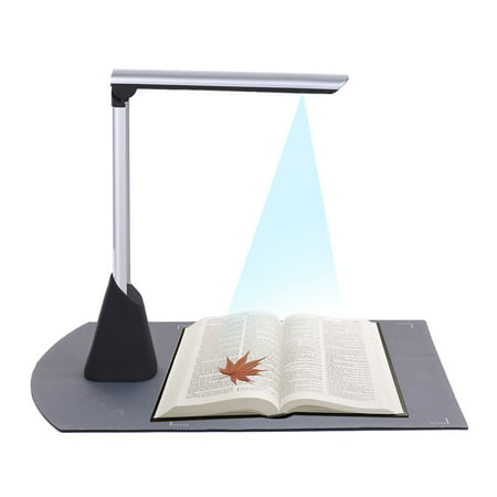Portable High Speed USB Book Image Document Camera Scanner 10 Mega-pixel HD High-Definition Max. A4 Scanning Size with OCR Function LED Light for Classroom Office Library Bank White Light Scanner