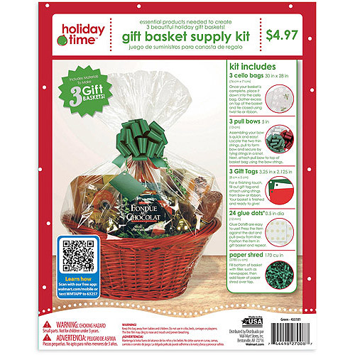 Holiday Time Gift Wrap Kit, Green