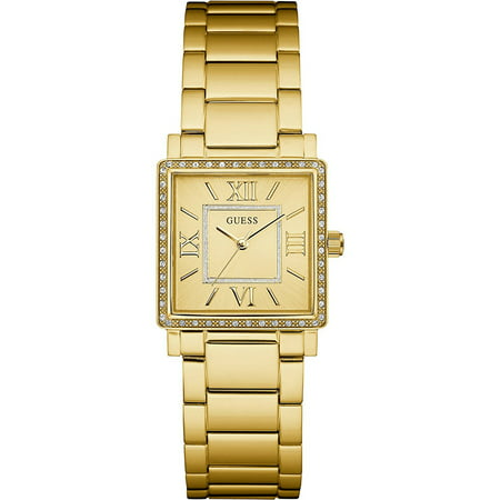 Guess Women's Gold-Tone Dress Watch with Crystal Accented Bezel