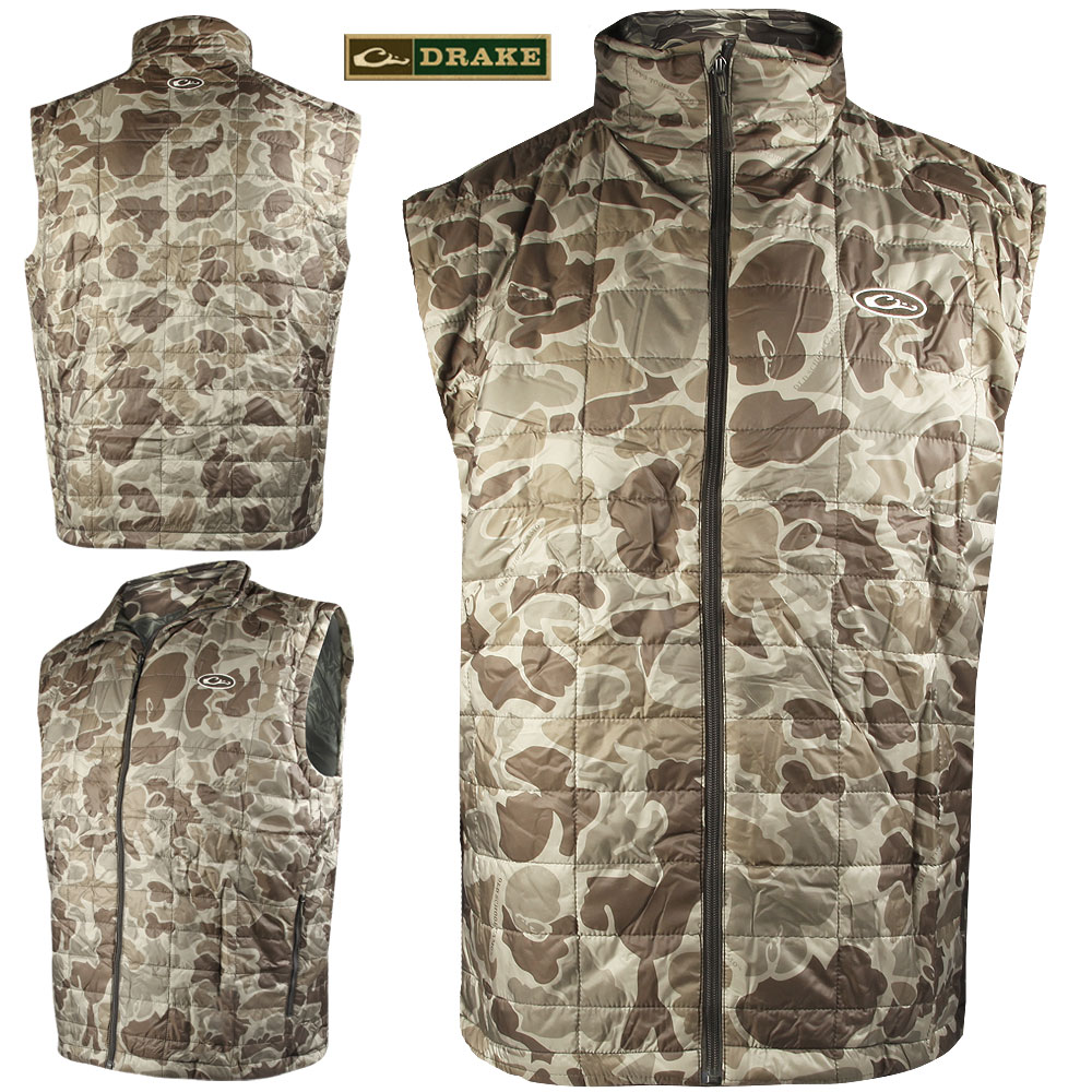Drake Waterfowl Syn. Down VEST (L)- OLD S.TIMBER