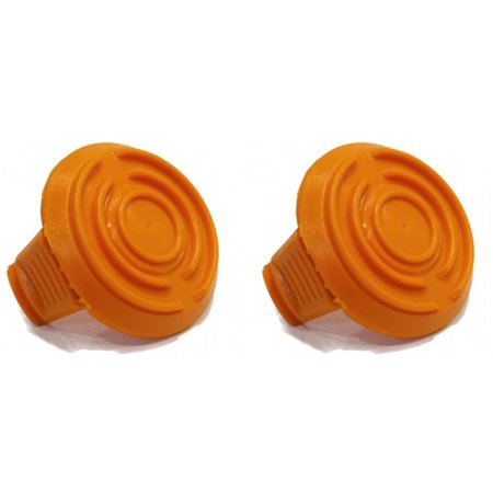 (2) SPOOL CAP COVERS for WA6531 WORX Cordless Trimmers GT Models Weed Eater Whip by The ROP
