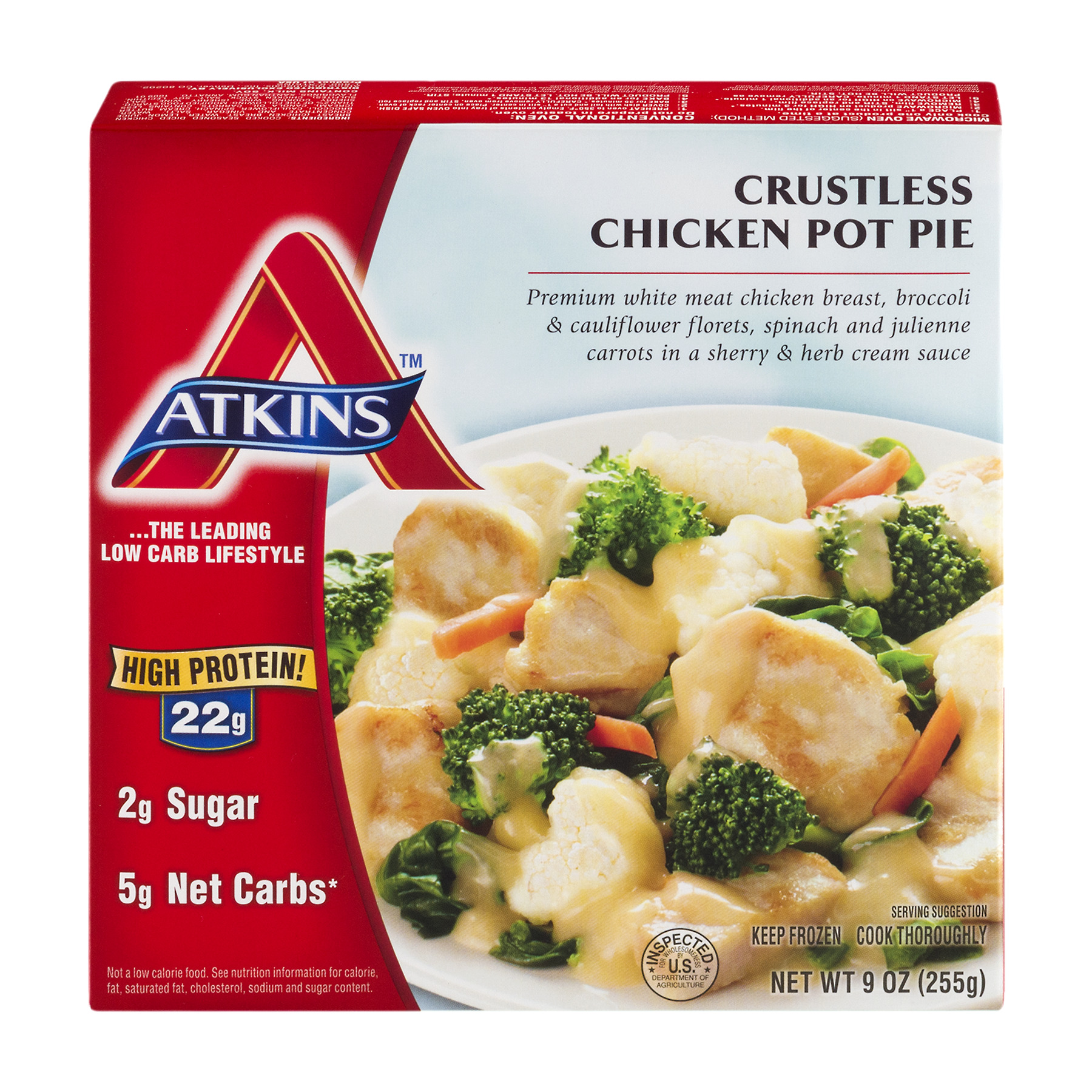 Atkins™ Crustless Chicken Pot Pie 9 oz. Box