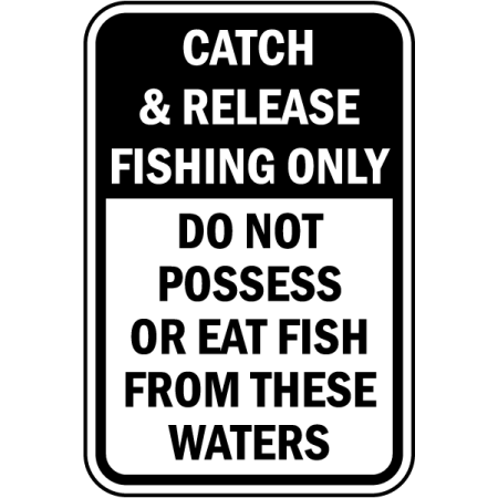 Traffic Signs - Do Not Eat Fish From These Waters Sign 10 x 7 Aluminum Sign Street Weather Approved Sign 0.04 Thickness