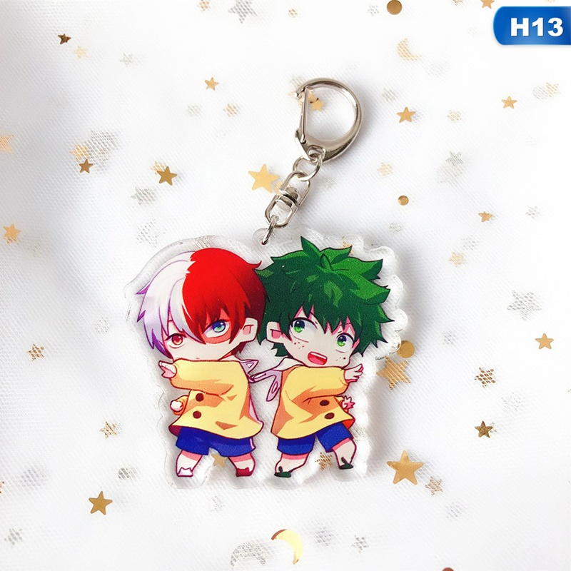 My Hero Academia Todoroki Shoto Diamond Acrylic Key Chain Anime Manga NEW