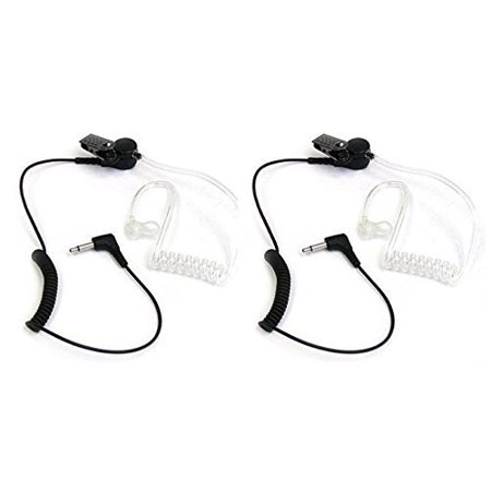 Buwico 3.5mm Covert Acoustic Tube Receiver_ Listen Only Earpiece Headset for 2_way Motorola Icom Radio Transceivers and (Antique Tube Radios)