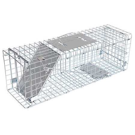 """JT Eaton 465N Answer Single Door Live Animal Cage Trap for Medium Size Pests, 24"""" x 7"""" x 8"""""""