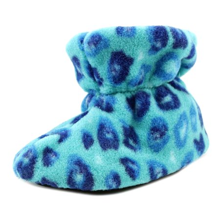 Image of Acorn Kids Easy Bootie Infant Round Toe Synthetic Blue Slipper