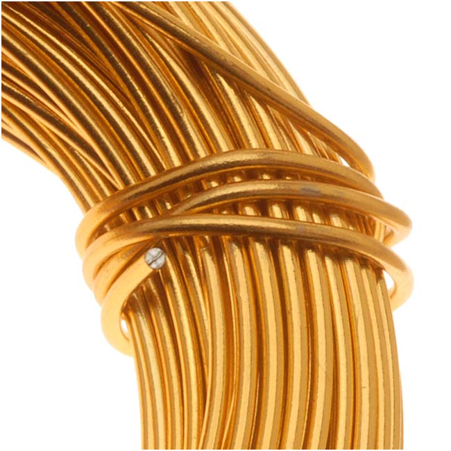 Aluminum Craft Wire Gold Color 18 Gauge 39 Feet (11.8 Meters)