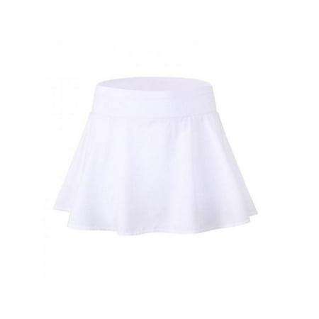 Topumt Women Quick Dry Tennis Sport Short Skirt High Waist Flared Pleated Mini Dress (Tennis Day Dress)