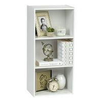 IRIS USA 3 Tier Wood Bookshelf, White