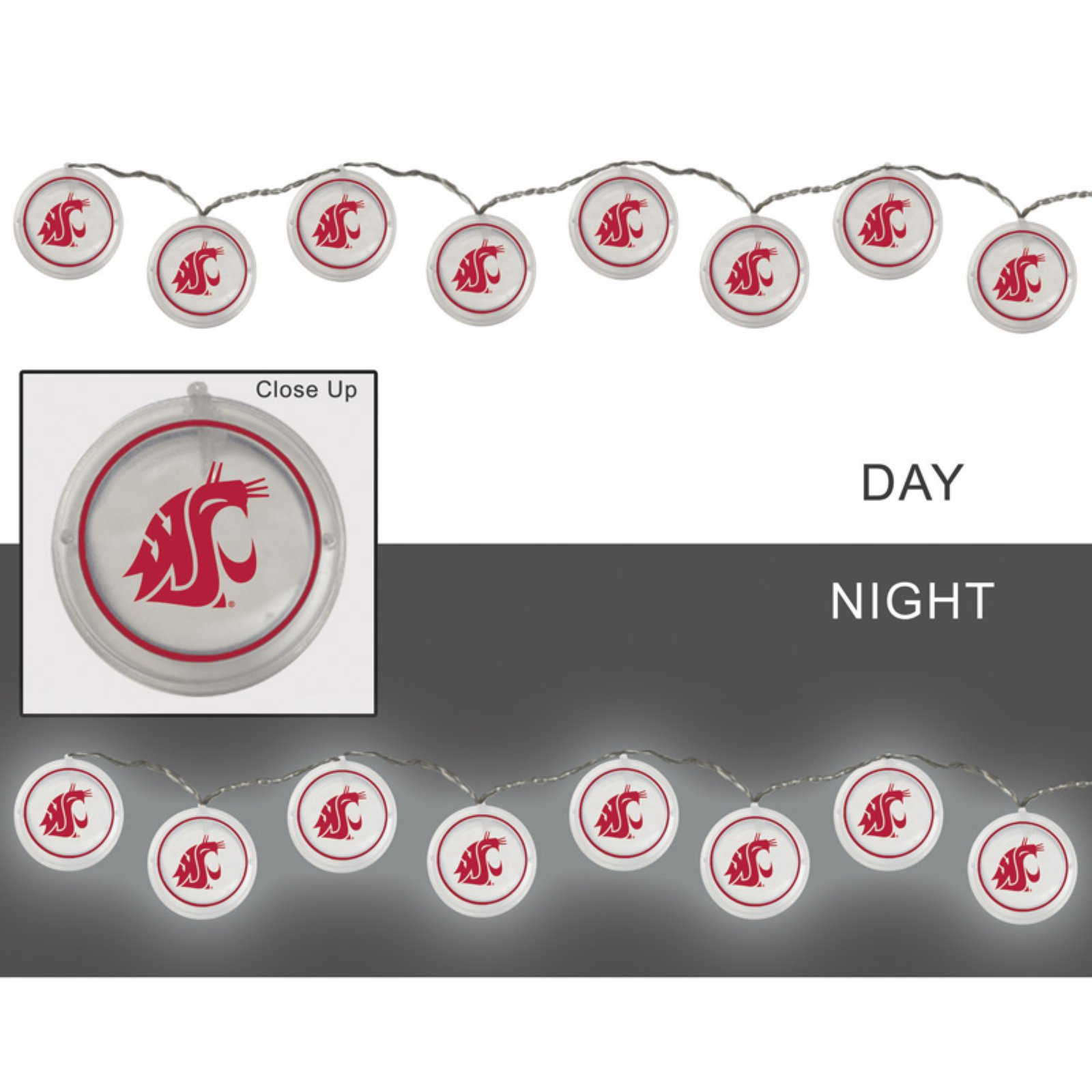 Evergreen Enterprises NCAA Team Outdoor String Lights