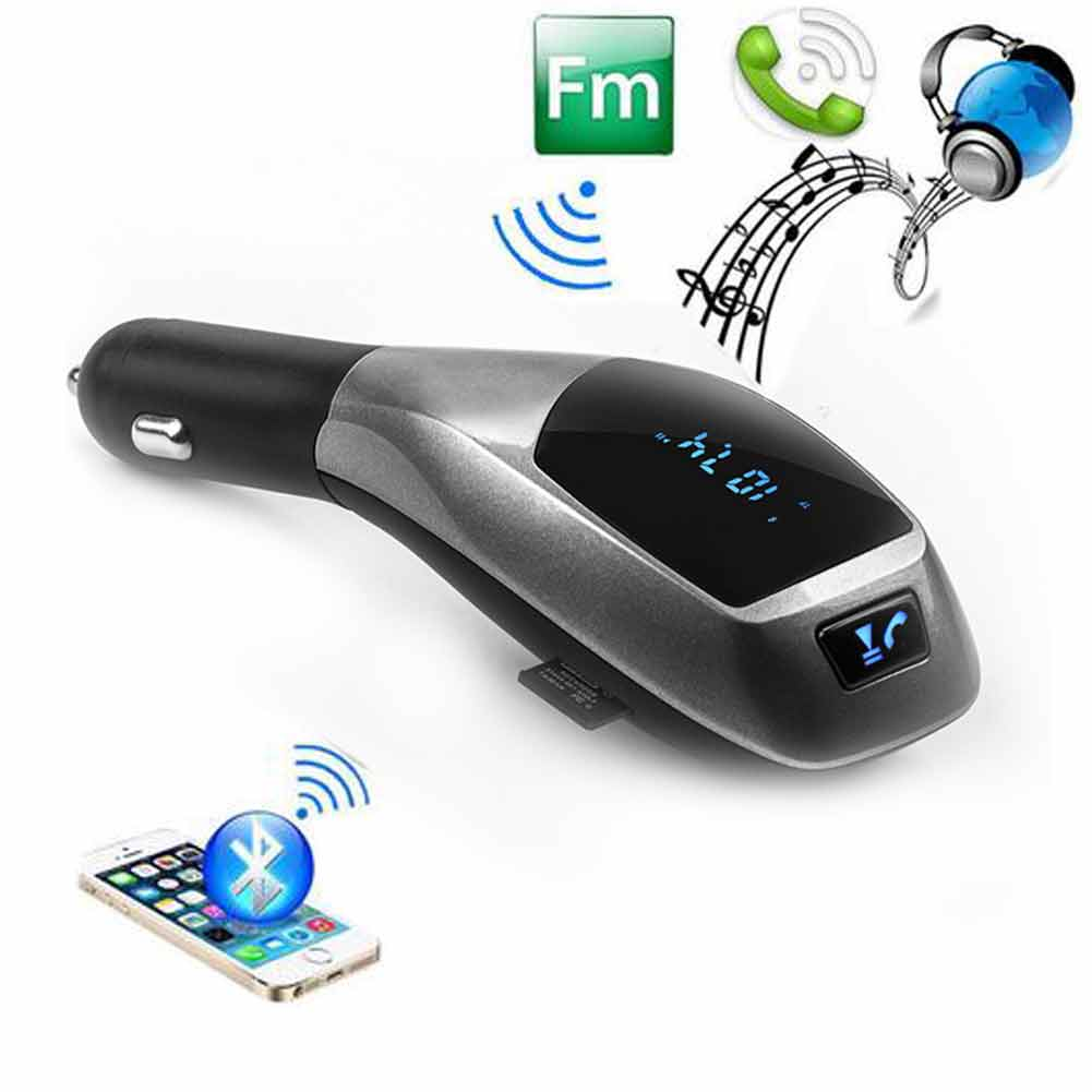 Wireless Bluetooth FM Transmitter Car Kit for hands-free calling and enjoy music when driving Sport MP3 /WMA with TF/ Micro SD Card and USB disk connects mobile devices