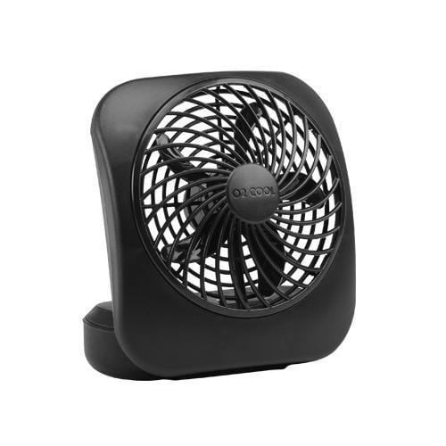 O2cool FD05004BLK Portable Fan, 2-Speed, Black, 5-In.