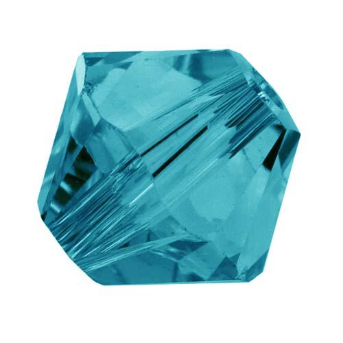 Swarovski Crystal, #5328 Bicone Beads 8mm, 8 Pieces, Indicolite