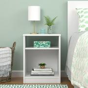 Mainstays Classic Open Shelf Nightstand, White
