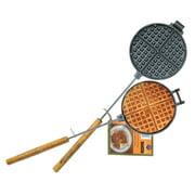 "Rome 1028 Chuck Wagon Waffle Iron, Cast Iron, 6-3/4"" Cooking Head"