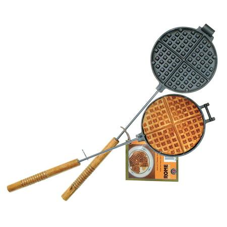 Rome 1028 Chuck Wagon Waffle Iron, Cast Iron, 6-3/4