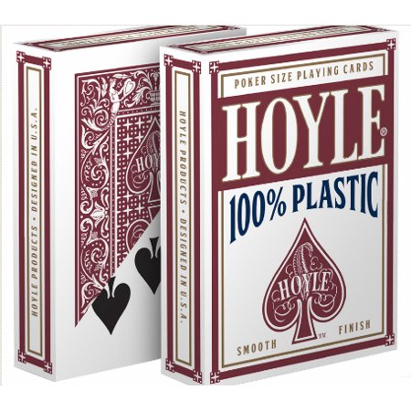 Playing Card Deck (Hoyle 100% Plastic Playing Cards, Standard Index - 1 Red)
