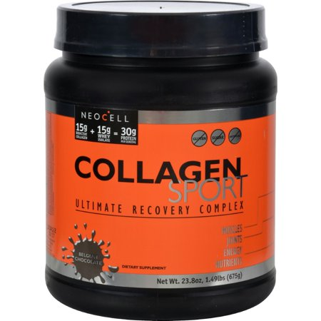 NeoCell Collagen Sport Whey Isolate Complex, Belgian Chocolate, 23.84 Ounce