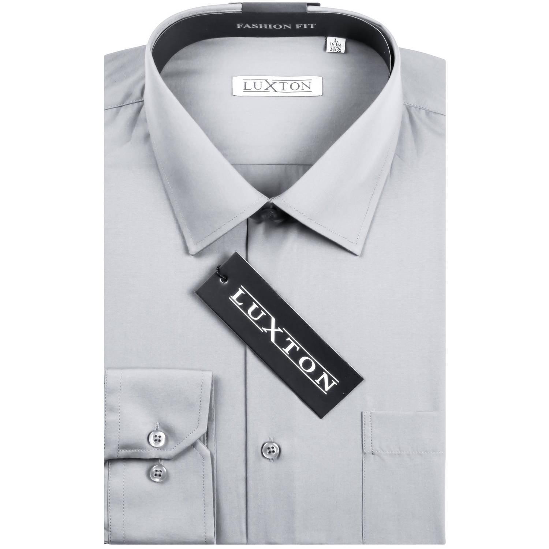 Verno Luxton Big Men's Classic Fashion Fit Dress Shirt