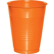 Touch of Color Plastic Cups, 16 oz, Sunkissed Orange, 20 Ct by CREATIVE CONVERTING