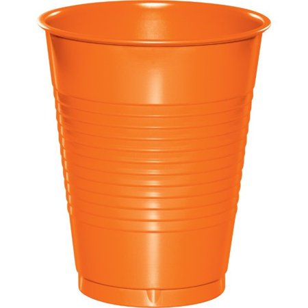 Touch of Color Plastic Cups, 16 oz, Sunkissed Orange, 20 Ct for $<!---->