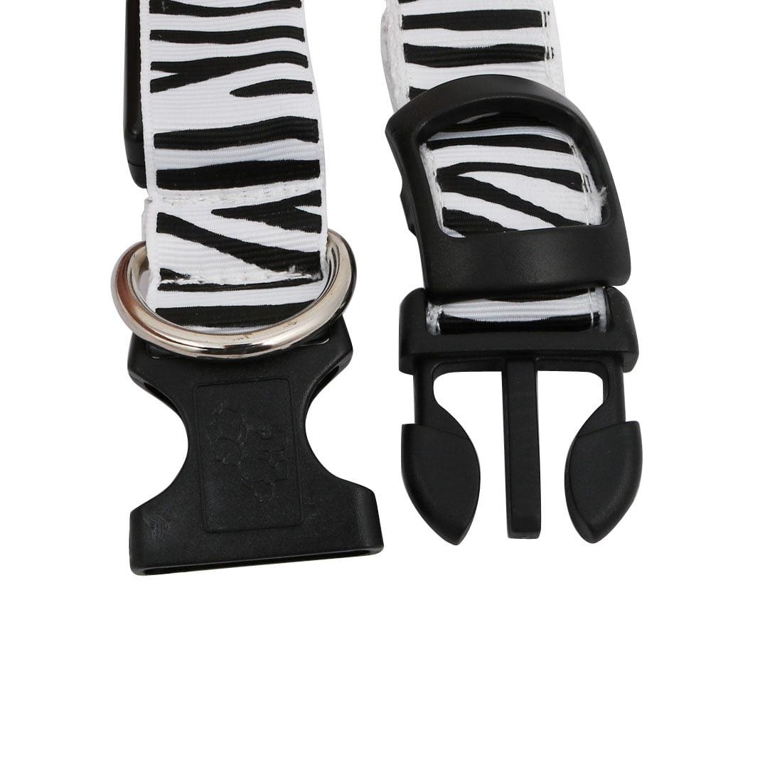 Unique Bargains White LED Light Flashing Safety Nylon Zebra-Stripe S Size Pet Dog Neck Collar - image 3 de 5