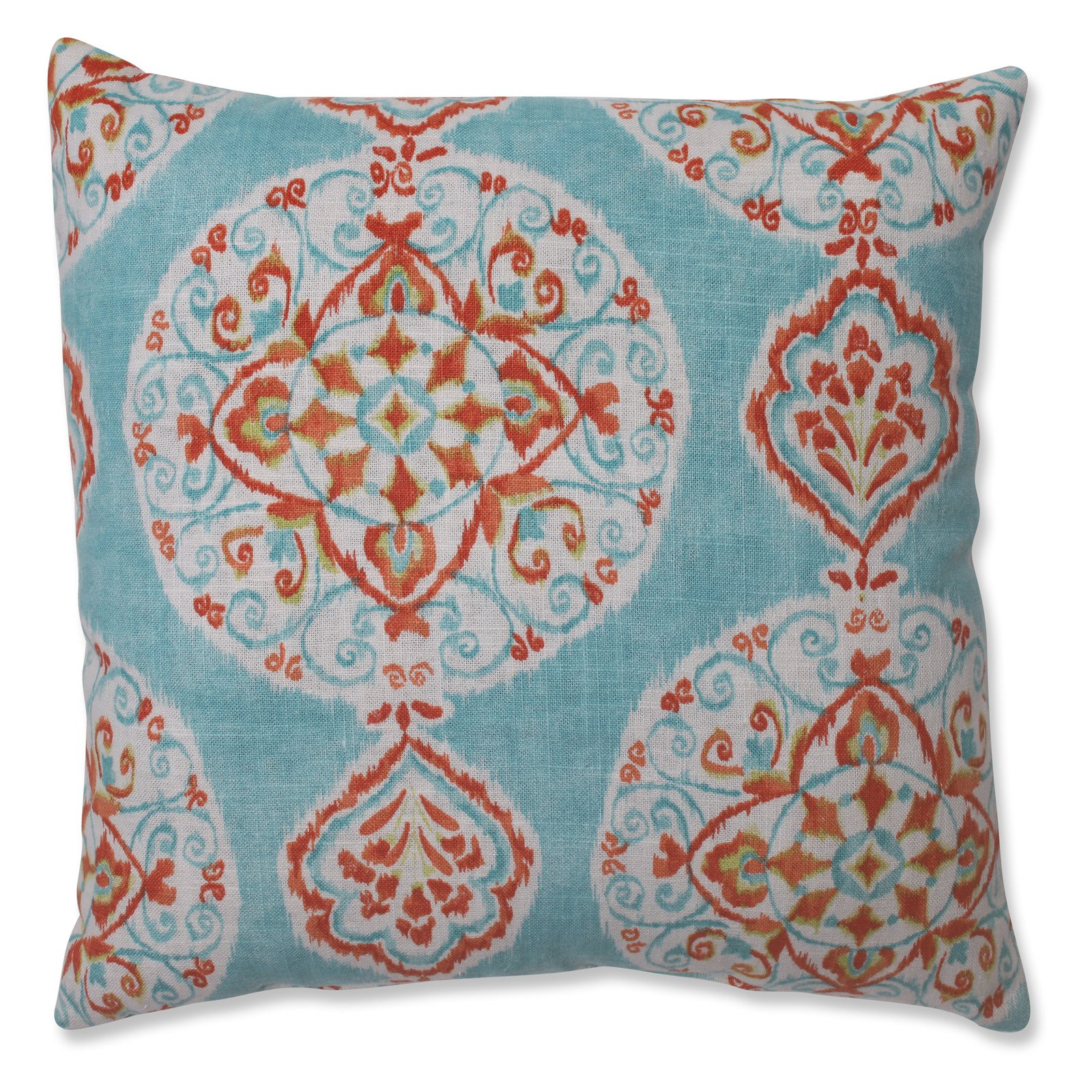 Pillow Perfect Mirage Medallion Capri 16.5 in. Throw Pillow