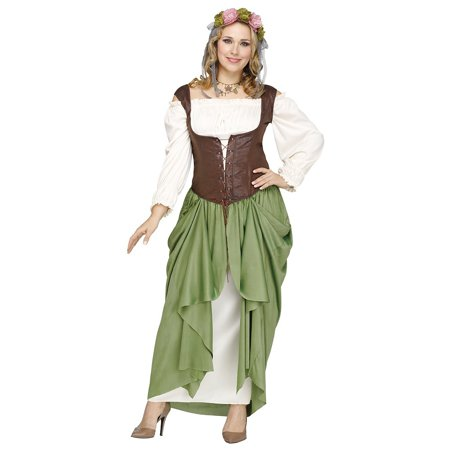 Wench Adult Costume - Plus Size 1X/2X (Renaissance Witch)