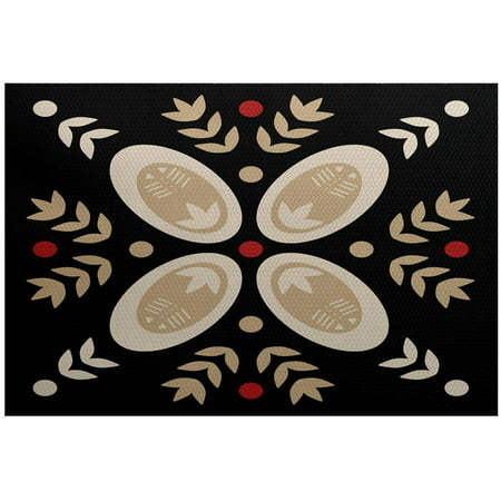 Simply Daisy 3' x 5' Tradition Geometric Print Indoor Rug ()