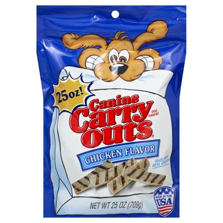 Canine Carry Outs Chicken Flavor Dog Snacks, 25-Ounce Bag
