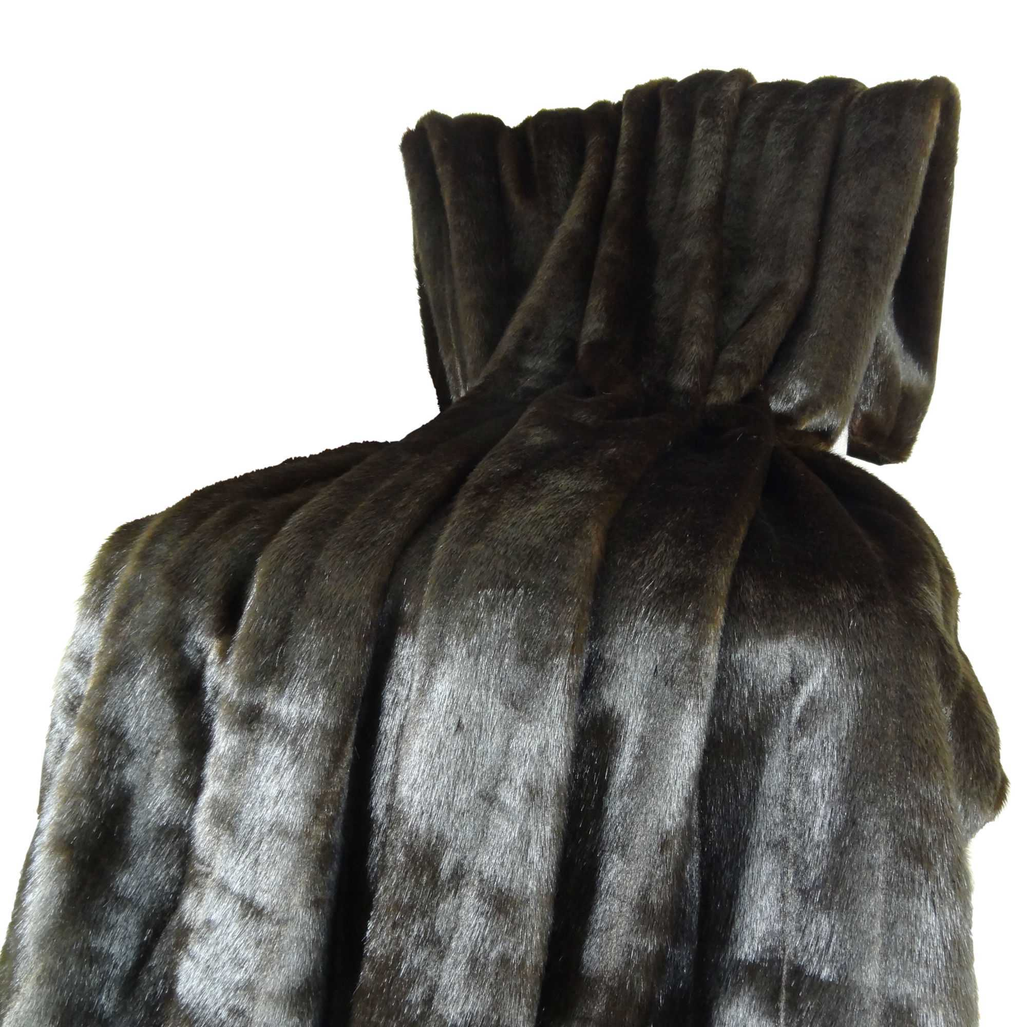 Tip Dyed Brown-Mink Handmade Throw