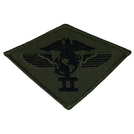 USMC SECOND 2ND MARINE AIR WING MAW PATCH OD OLIVE DRAB GREEN MARINE CORPS