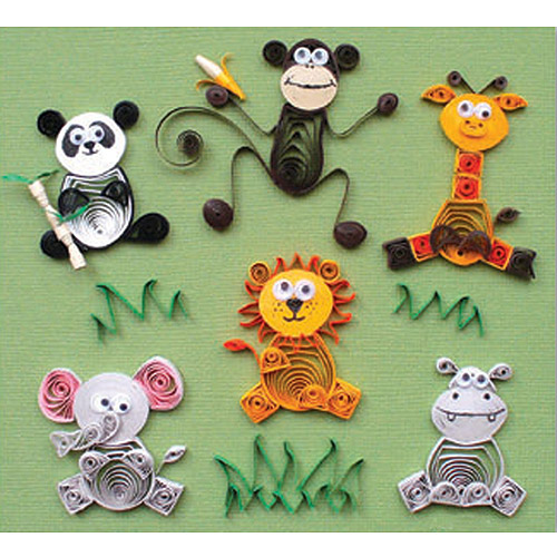 Quilling Kit, Jungle Buddies