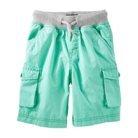 Oshkosh Bgosh Baby Boys Pull On Cargo Shorts   Turquoise  12 Months