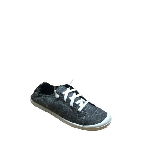 Time and Tru Women's Scrunch back Canvas Shoe