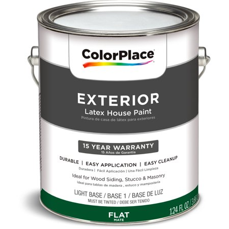 colorplace exterior flat light base paint 1 gal walmart inventory. Black Bedroom Furniture Sets. Home Design Ideas