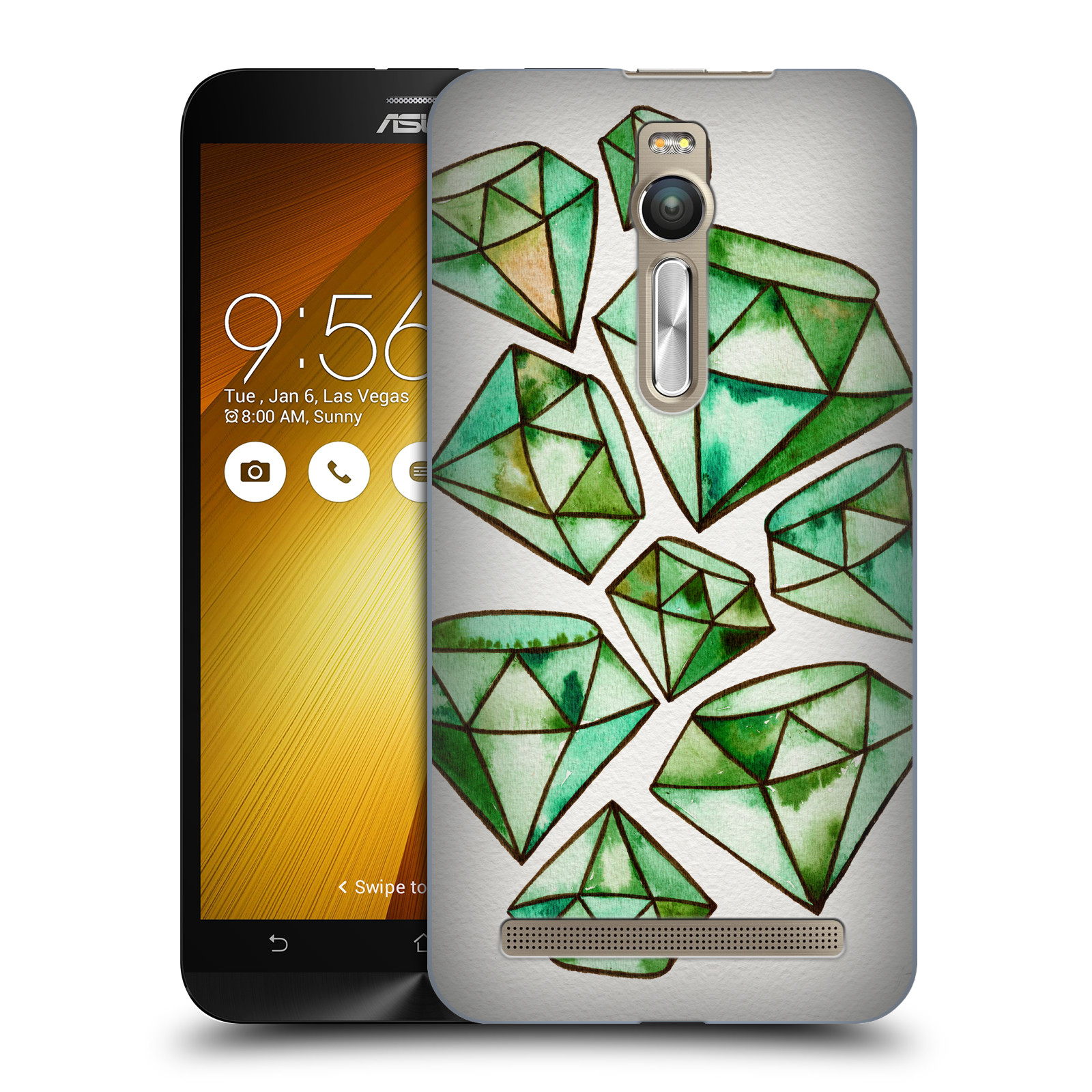 OFFICIAL CAT COQUILLETTE WATERCOLOURED GEMS HARD BACK CASE FOR ASUS ZENFONE PHONES